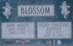 Helen Christine <i>Johnson</i> Blossom