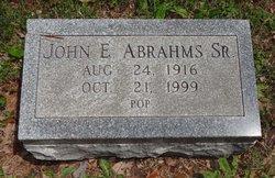John E Pop Abrahms, Sr