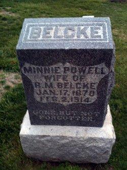 Minnie <i>Powell</i> Belcke