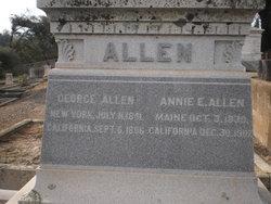 Annie E <i>Bradbury</i> Allen