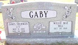 Willie Mae Bill <i>Wright</i> Gaby