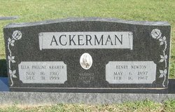 Ella Pauline Polly <i>Kramer</i> Ackerman