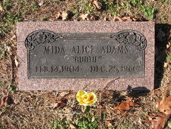 Mida Alice Auntie Adams