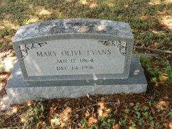 Mary <i>Olive</i> Evans