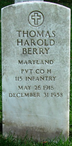Pvt Thomas Harold Pat Berry