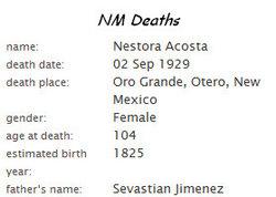 Nestora <i>Jimenez</i> Acosta