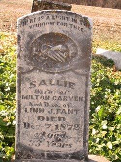 Sallie <i>Fant</i> Carver