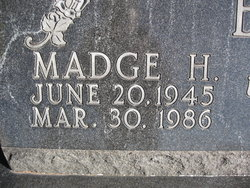 Bonnie Madge <i>Hellums</i> Bain