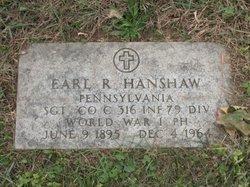 Sgt. Earl R. Hanshaw