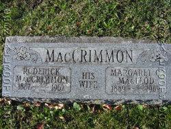 Margaret Christena <i>MacLeod</i> MacCrimmon