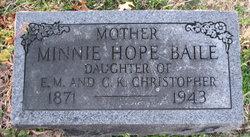 Minnie Hope <i>Christopher</i> Baile