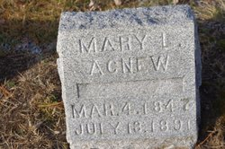 Mary L <i>Wadleigh</i> Agnew