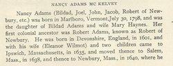 Nancy <i>Adams</i> McKelvey