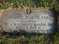 Pfc Casimer Joseph Fary
