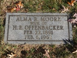 Alma R <i>Moore</i> Offenbacker