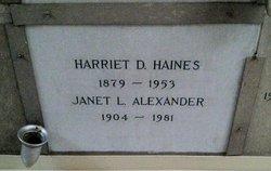 Janet L Alexander