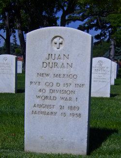 Pvt Juan de la Cruz Duran, Jr