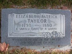 Elizabeth <i>Patrick</i> Taylor
