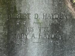 Mary A. <i>MacLeod</i> Hayden