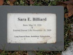 Sara E Billiard