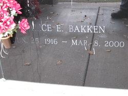 Alice E. <i>Ness</i> Bakken