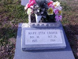 Mary Etta <i>Williamson</i> Cooper