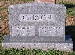Edward Post Carson