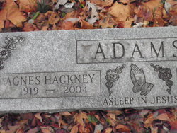 Agnes <i>Hackney</i> Adams