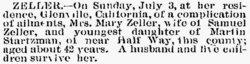 Mary Emmert <i>Startzman</i> Zeller
