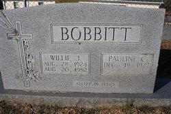 Willie J Bobbitt