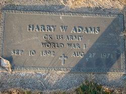Harry W Adams