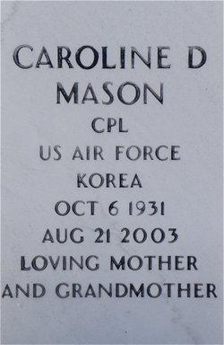 Caroline D Mason