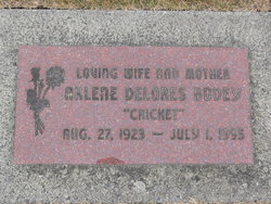 Arlene Delores Cricket Bodey