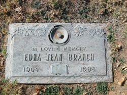 Edna <i>Jean</i> Branch