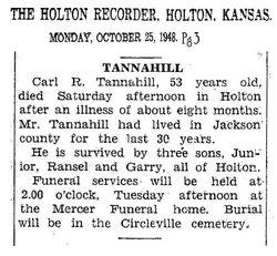 Carl R. Tannahill