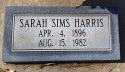 Sarah <i>Sims</i> Harris