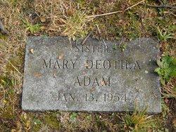 Sr Mary Deotila Adam