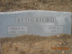 Paulina Margaret Paula <i>Williams</i> Retherford