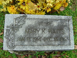 Mary K <i>Clements</i> Watts