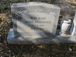 Ruth Marie <i>Daniel</i> Broadhurst