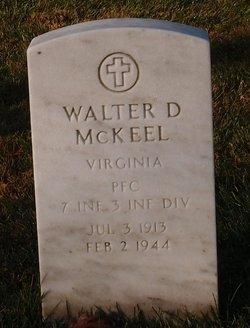 Walter D McKeel