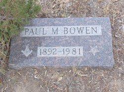 Paul M Bowen