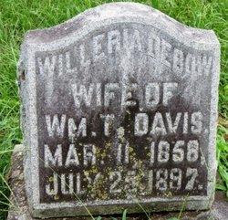 Willaria <i>DeBow</i> Davis