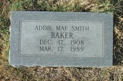 Addie Mae <i>Smith</i> Baker