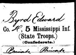 Pvt Edward Guy Byrd
