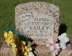 Bertha <i>Cotton</i> Bailey
