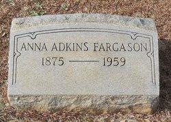 Anna Elizabeth <i>Adkins</i> Fargason