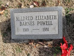 Mildred Elizabeth <i>Barnes</i> Powell