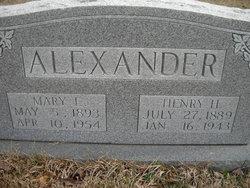 Mary E Alexander