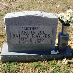 Martha Sue <i>Bailey</i> Raynes